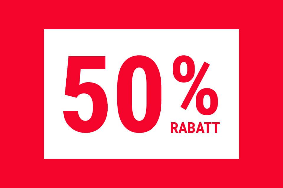 Neueröffnung nach Umbau - Sparen Sie bis zu 50 %