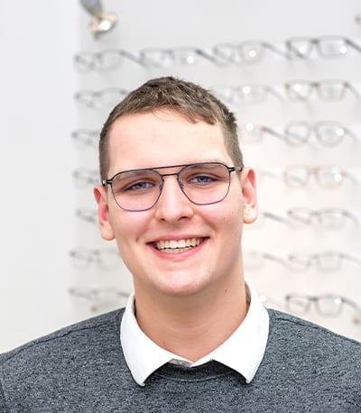 Jeremy Ullrich, Augenoptikergeselle bei Okay Optic Nierstein